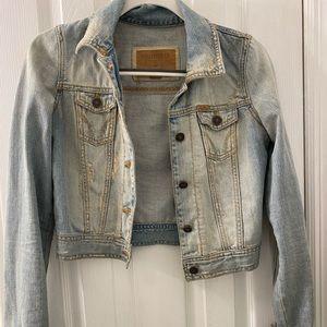 Light washed blue jean jacket (size XS/S)
